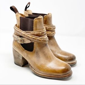 Bed Stu | Lorn Leather Wrap Distressed Ankle Boots
